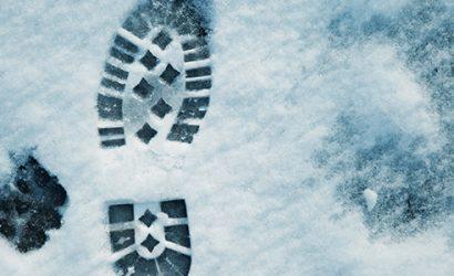 Snö skoavtryck